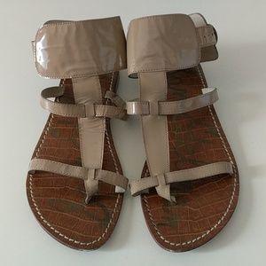 Sam Edelman Tan Patent Leather Strappy Sandals